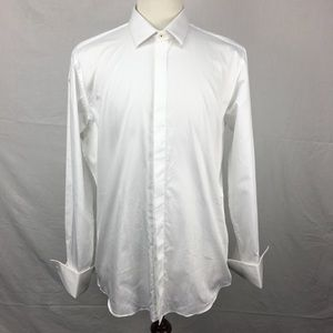 Ted Baker White Fredra Trim Fit Tuxedo Shirt